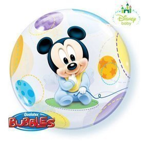 Globo Baby Mickey Burbuja Bubble