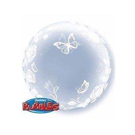 Globo Rosas Elegantes Burbuja Bubble