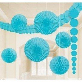 Kit Decoracion Color Azul Caribe