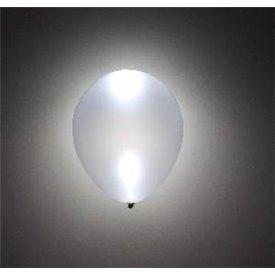 Globos Látex con luz Led Plata Metalizado (5)