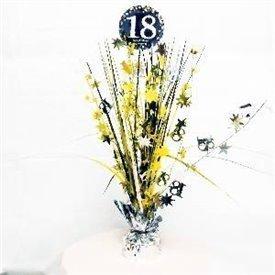 Centro de mesa 18 cumpleaños plata/oro