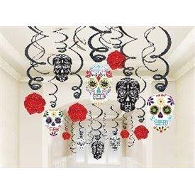 Decoracion Espirales Colgante Calavera Mexicana (30)