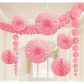 Kit Decoracion Damasco Color Rosa