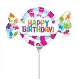 Globo Happy Birthday Caramelo palito