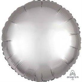 Globo Circulo color satin Plata de 45cm