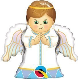 Globo Angel Baby niño palito 35cm