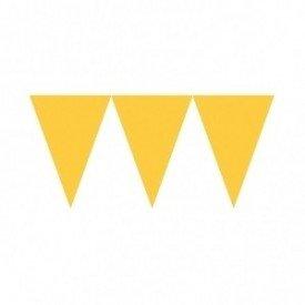 Banderines Triangulos Color Amarillo (4,5 m aprox)