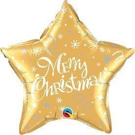 """Globo Foil Estrella """"Merry Christmas"""" Dorada de 51cm"""