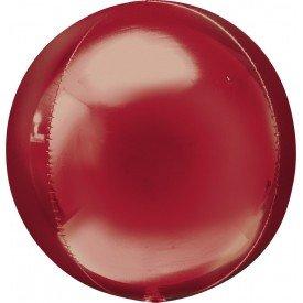 Globo Forma Esfera de 40 cm Color ROJO