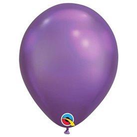 """Globos CHROME QUALATEX Purple de 11""""- 28cm (25)"""