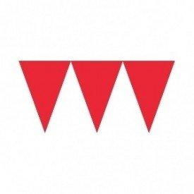 Banderines Triangulos Color Rojo (4,5 m aprox)