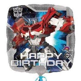 """Globo Transformers """"Happy Birthday"""" de 45cm"""