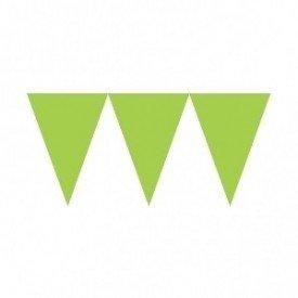 Banderines Triangulos Color Verde (4,5 m aprox)