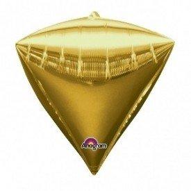 Globo Forma Diamante de 43 cm aprox Color ORO