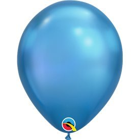"Globos CHROME QUALATEX Blue de 11""- 28cm (100)"