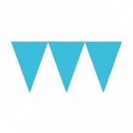 Banderines Triangulos Color Azul Caribe (4,5 m aprox)