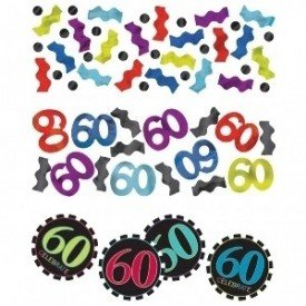 Confeti Chevron 60 Cumpleaños